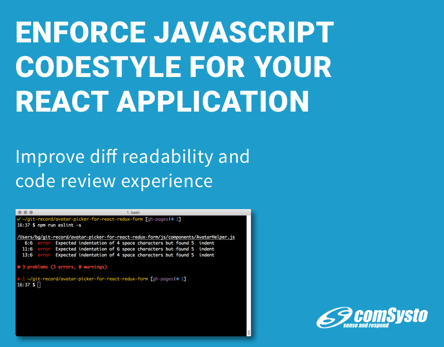 Enforce JavaScript Codestyle for your React Application