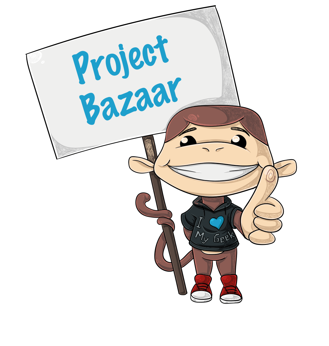 MacCody happily guides you to the project bazaar
