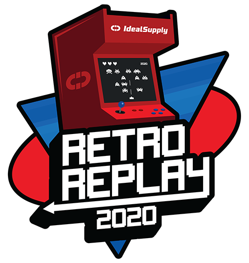 the Retro Replay logo. Image looks like an old video arcade cabinet