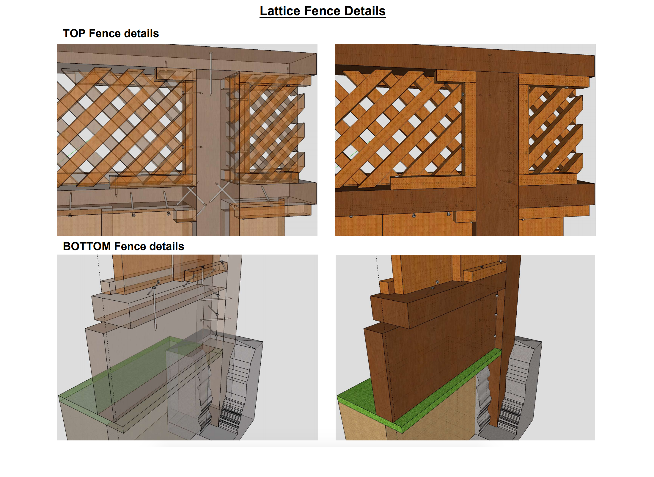 Lattice fence details
