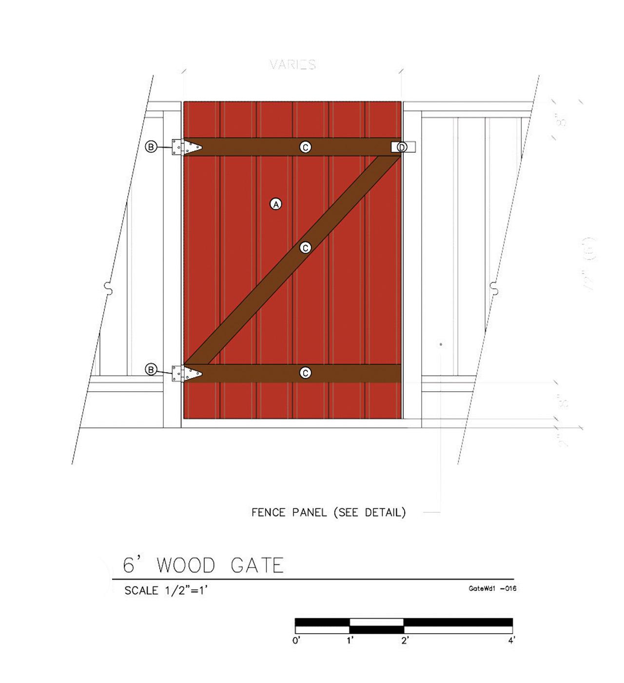 6' Wood Gate