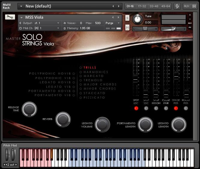 Kontakt VST AU AAX GUI Screenshot of interface