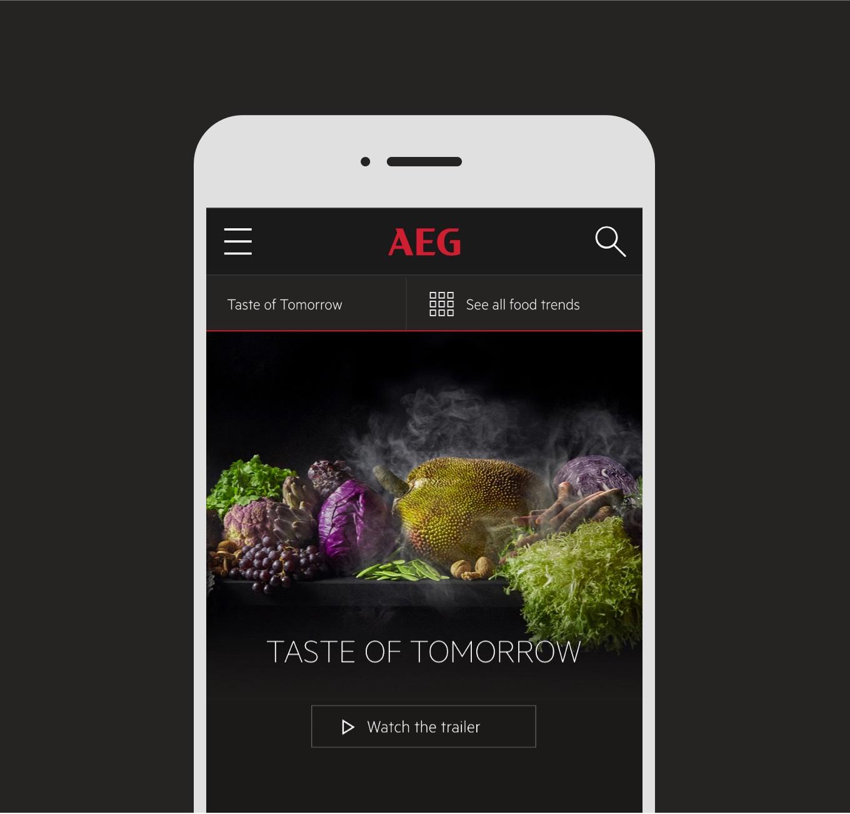 AEG:s responsiva mobilsajt