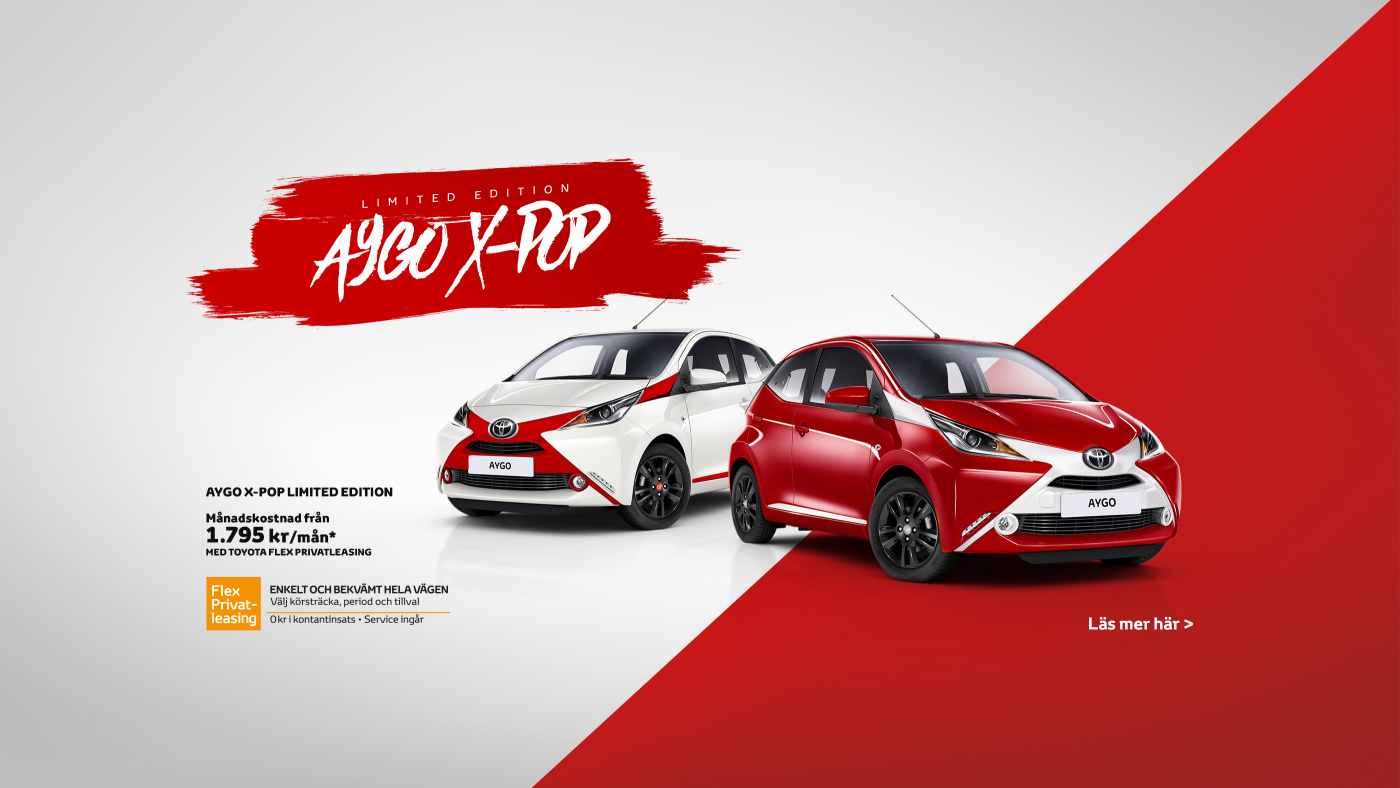 Toyota Aygo X-pop, Limited Edition design. Marknadsföringsmaterial online.