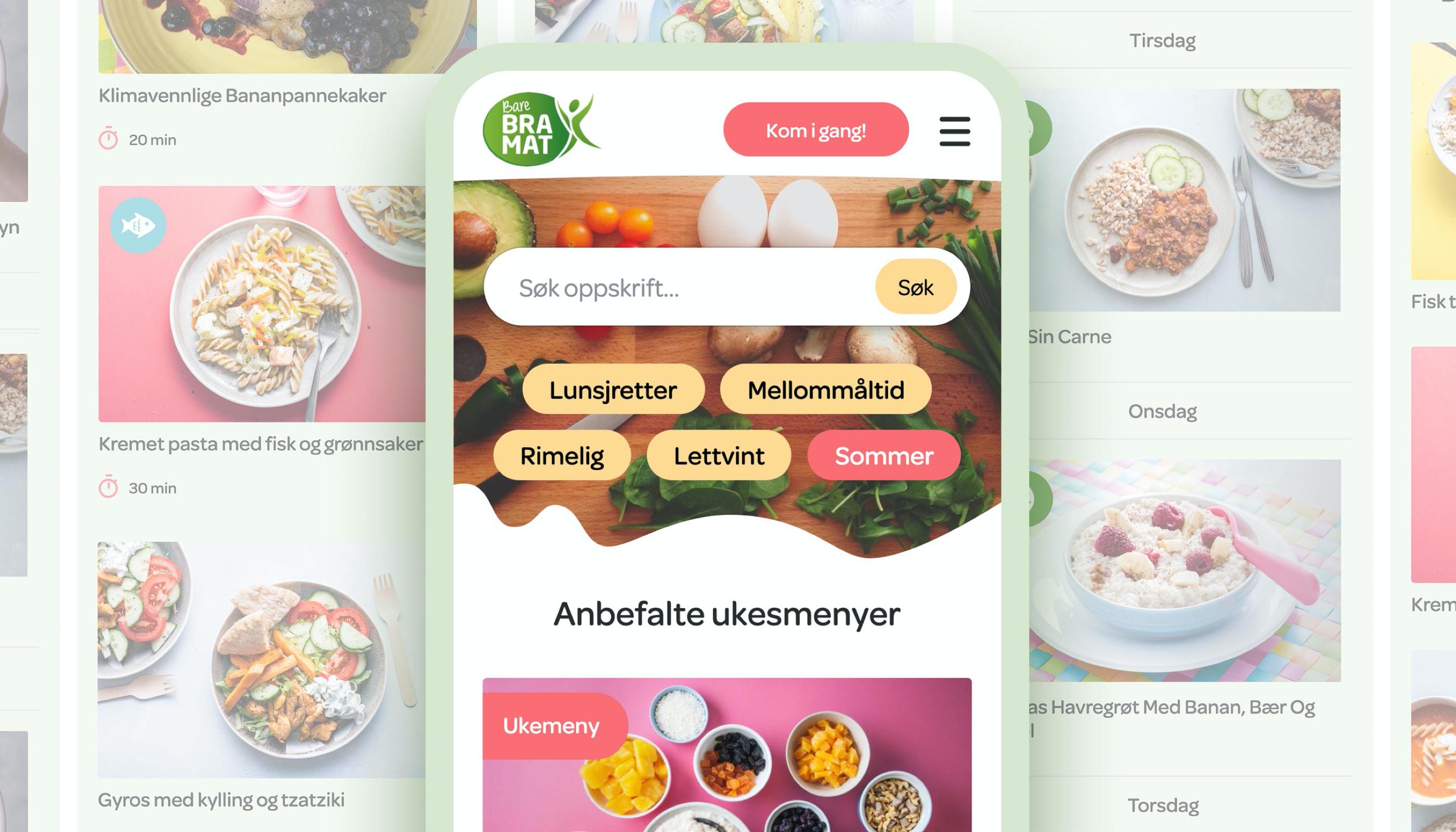 Färger och element som använts vid designen av sajterna till Sonneveld och Ldb på One Orkla Web Platform.