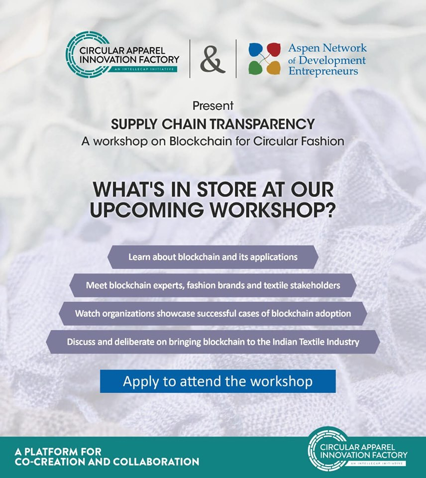 Workshop with CAIF - Supply Chain Transparency: Blockchain