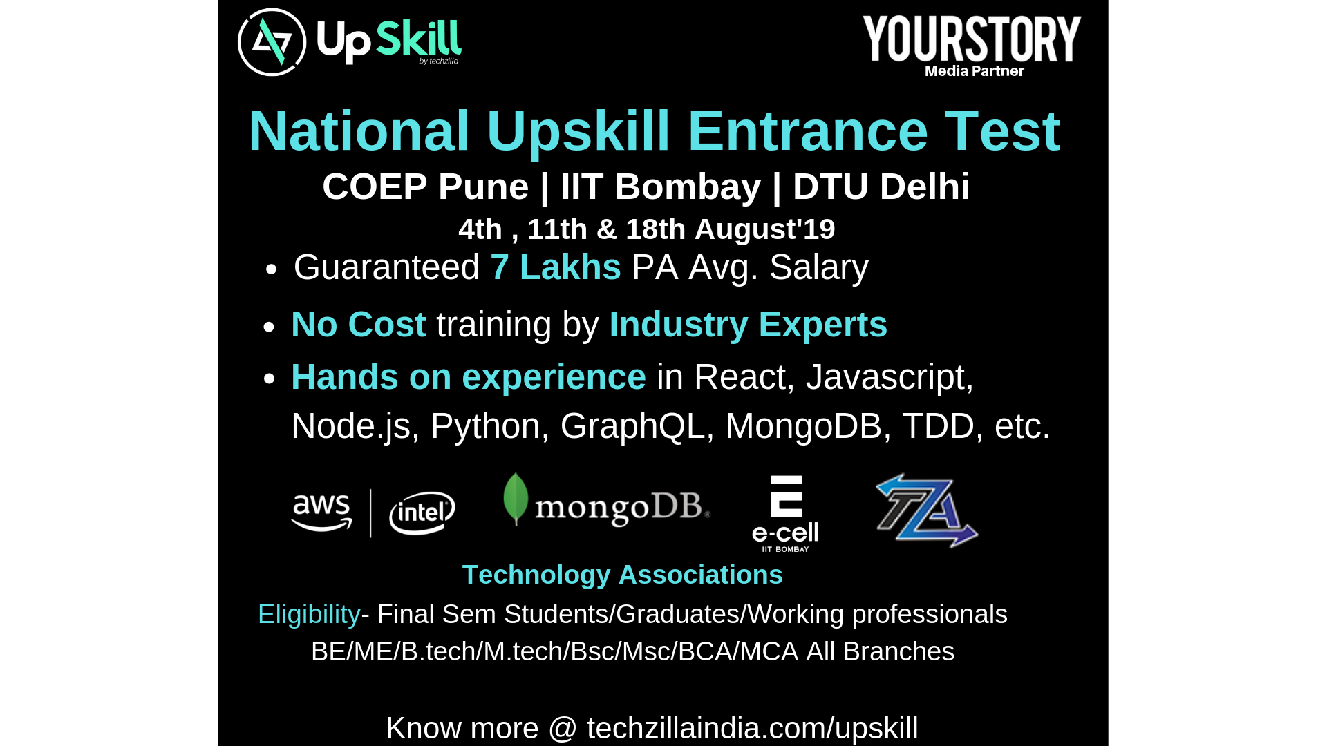 National Upskill Entrance Test | YourStory Events