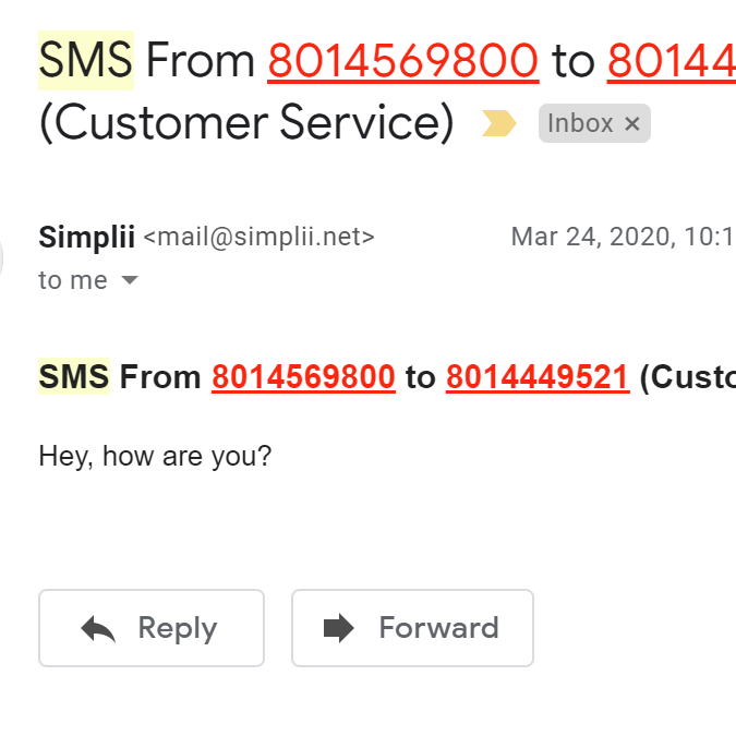 SMS Email Notifications