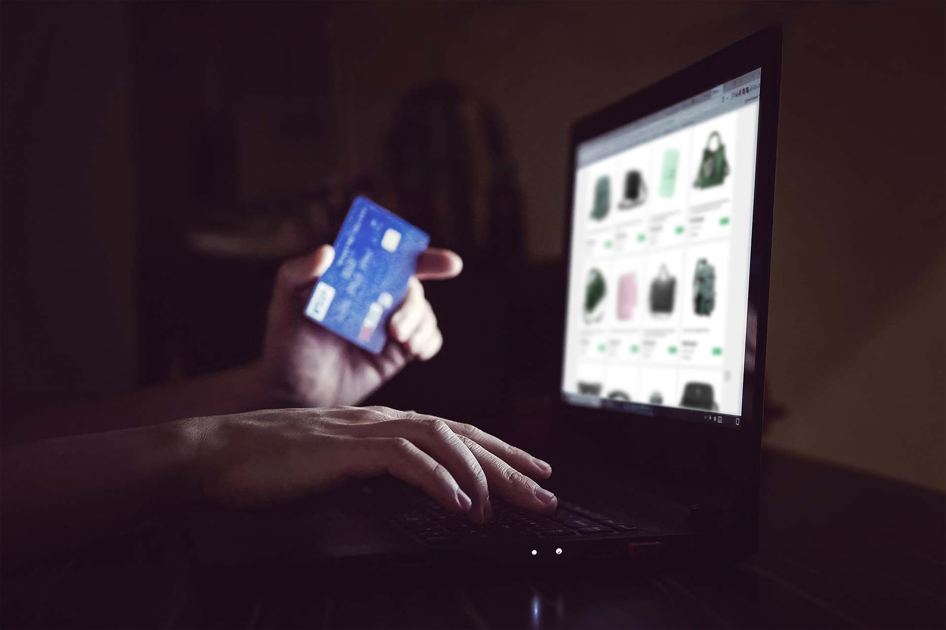Safely Shopping Online - Image of shopping online