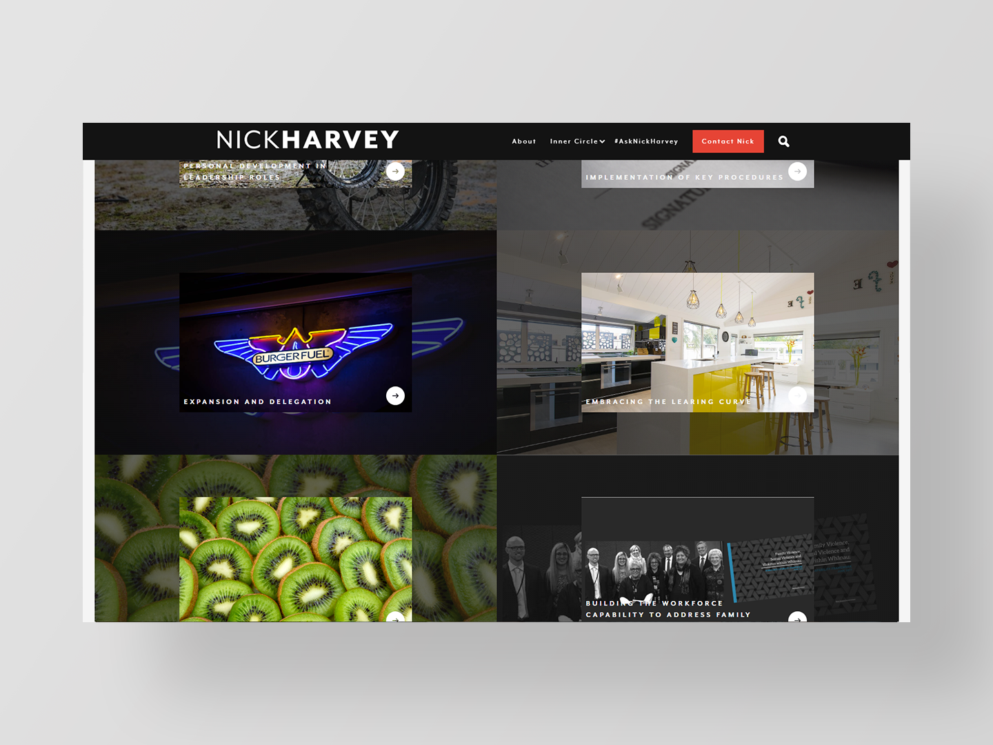 Nick Harvey - Website design by Neon Hive