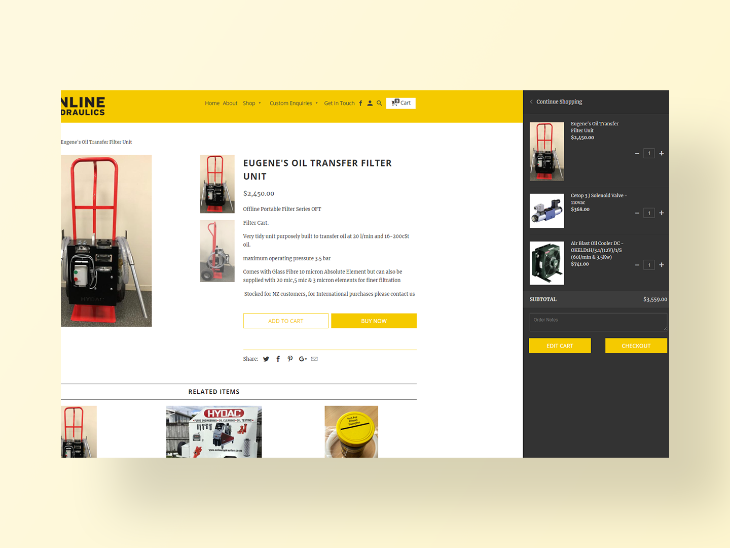 Online Hydraulics new website by Neon Hive