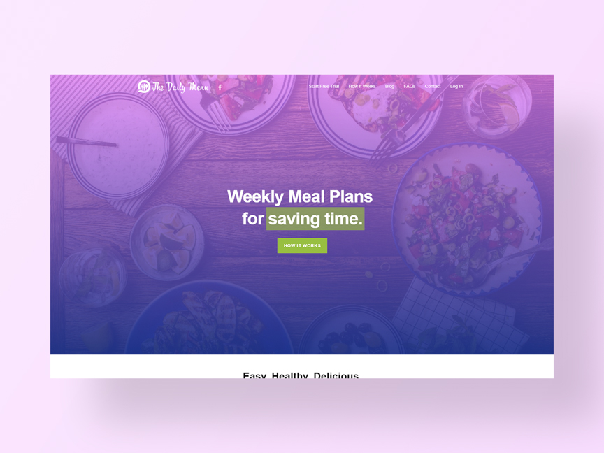 The Daily Menu's new website developed by Neon Hive