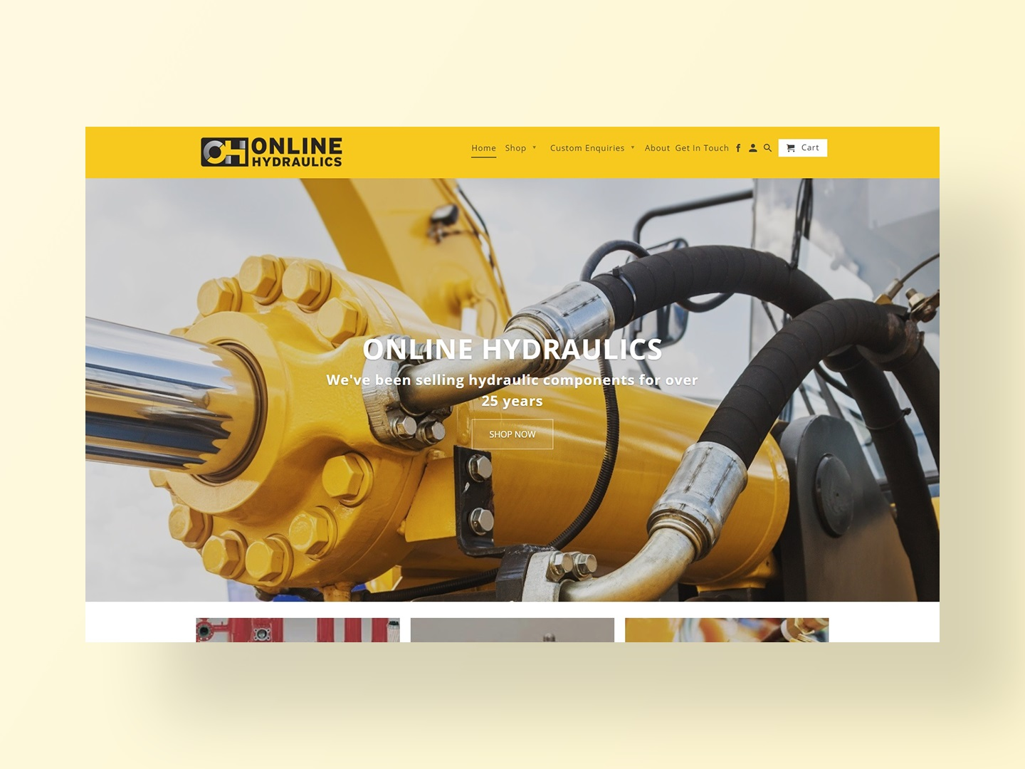Online Hydraulic's new website designed and developed by Neon Hive