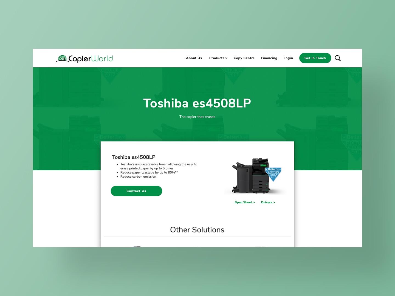 Copier World - Website Design by Neon Hive