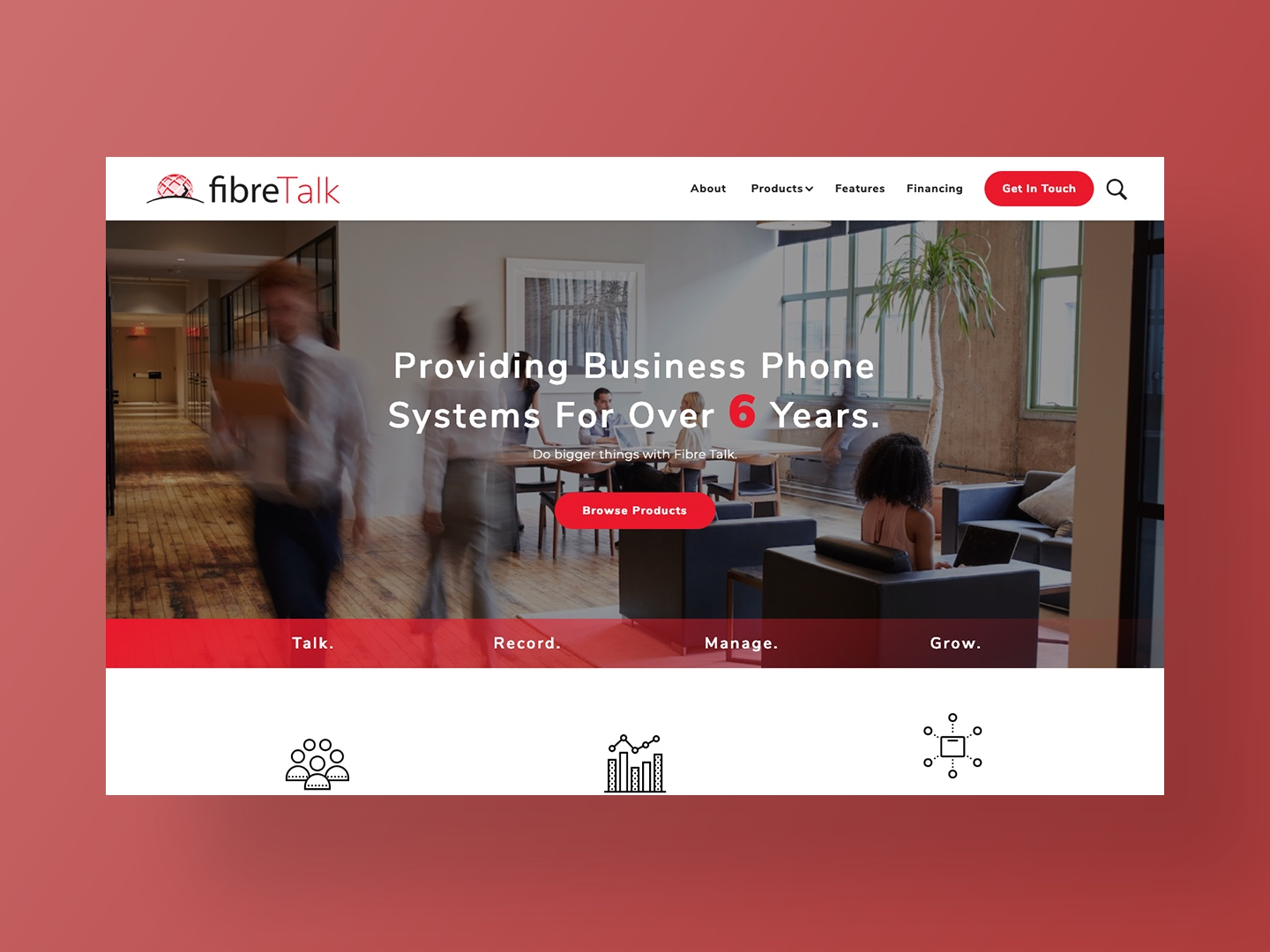 Fibre Talk's new website designed and developed by Neon Hive