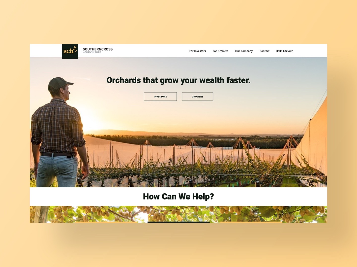 Southern Cross Horticultures new website by Neon Hive
