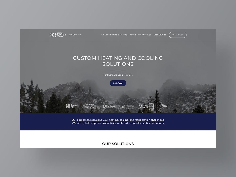 Custom Equipment Rentals Website Design by Neon Hive