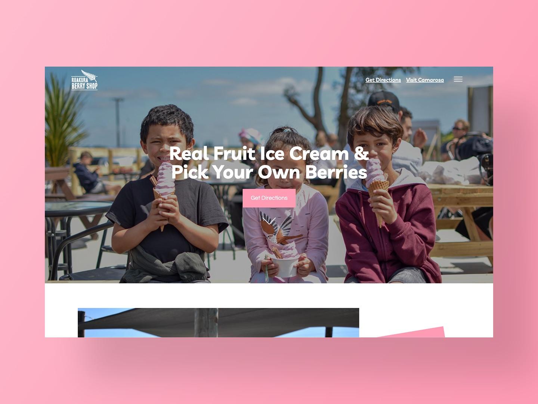 Ruakura Berry Shop Website Design by Neon Hive