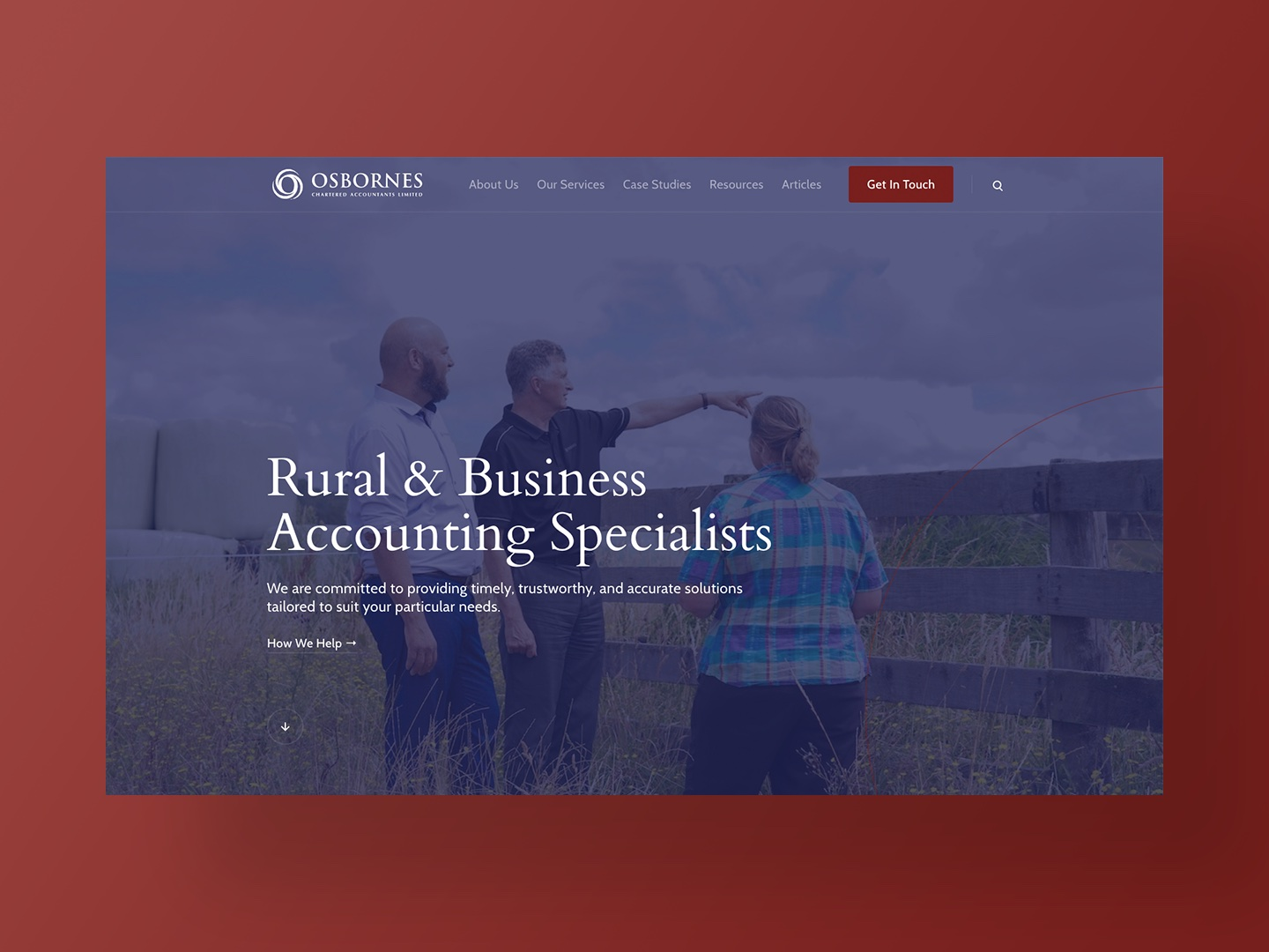 Osbornes Chartered Accountants Website Home Page
