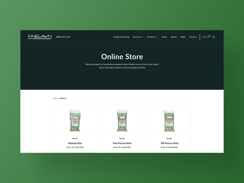 Finelawn Online Store
