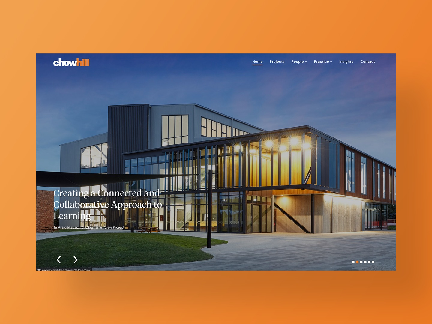 Chow:Hill Architects new website homepage