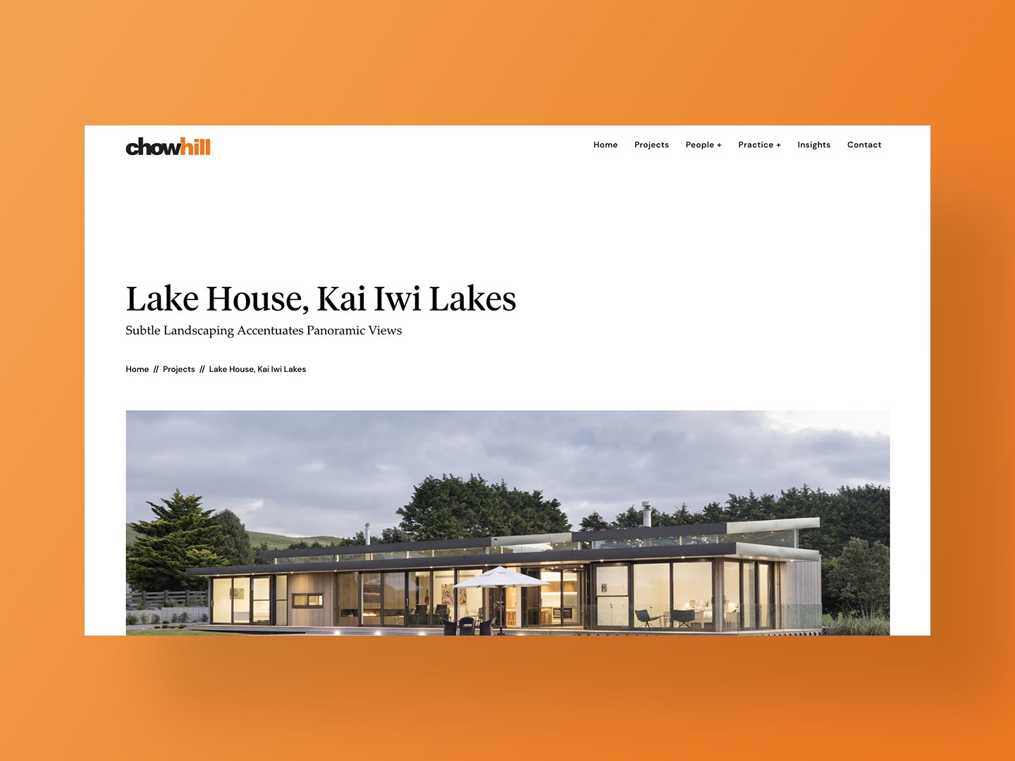 Chow:Hill Architects new website