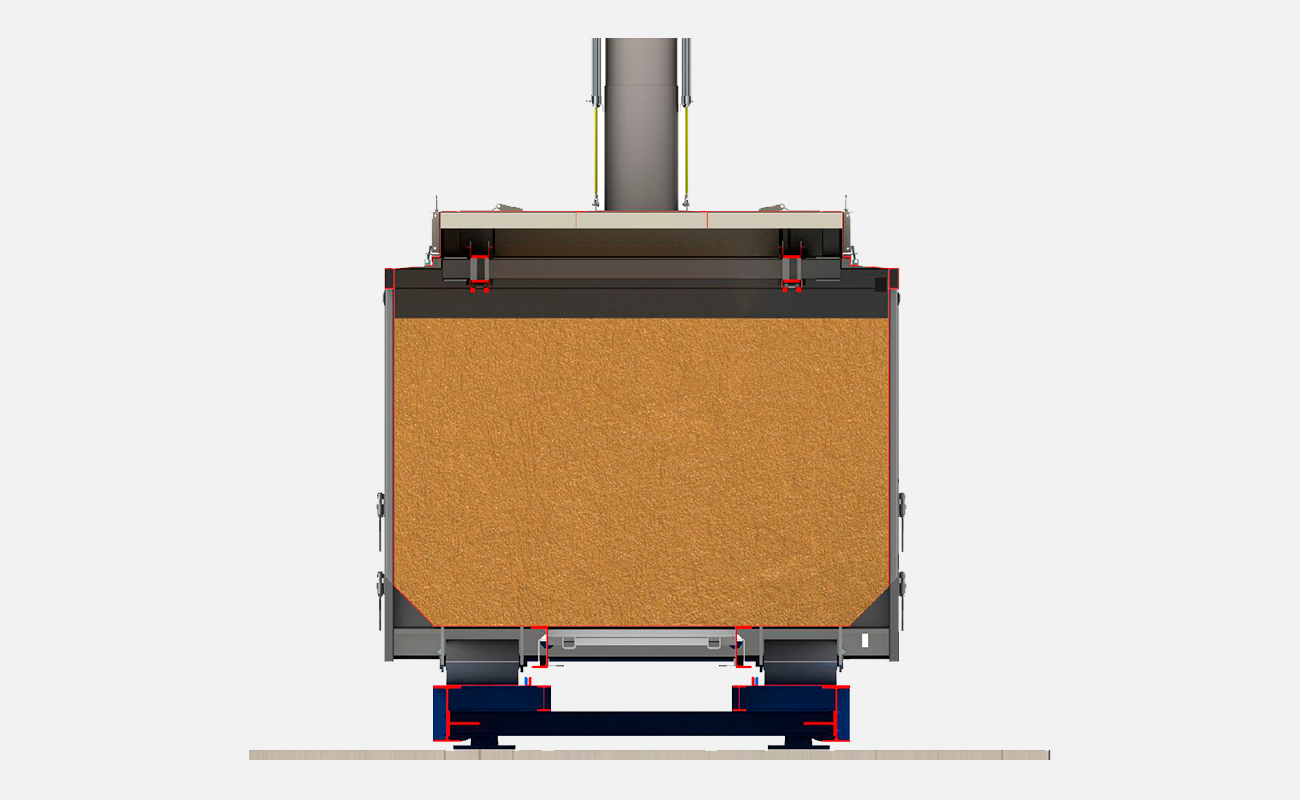Utsnitt av container