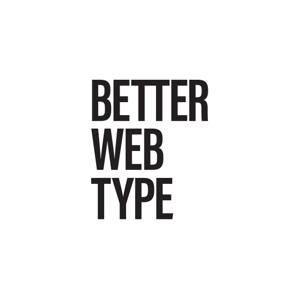 Better Web Type