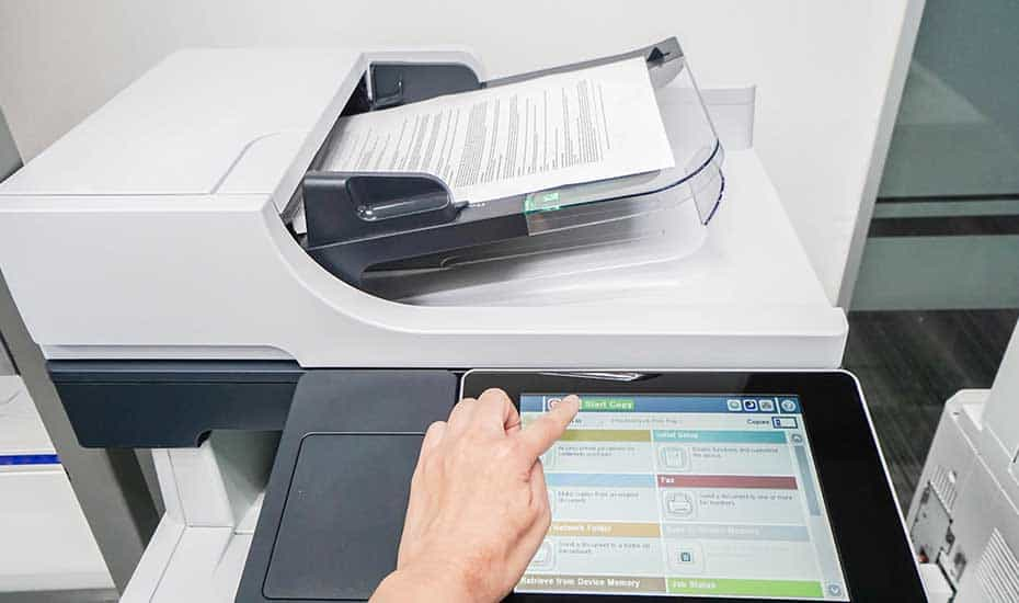 How to access the security of your office copier and printer