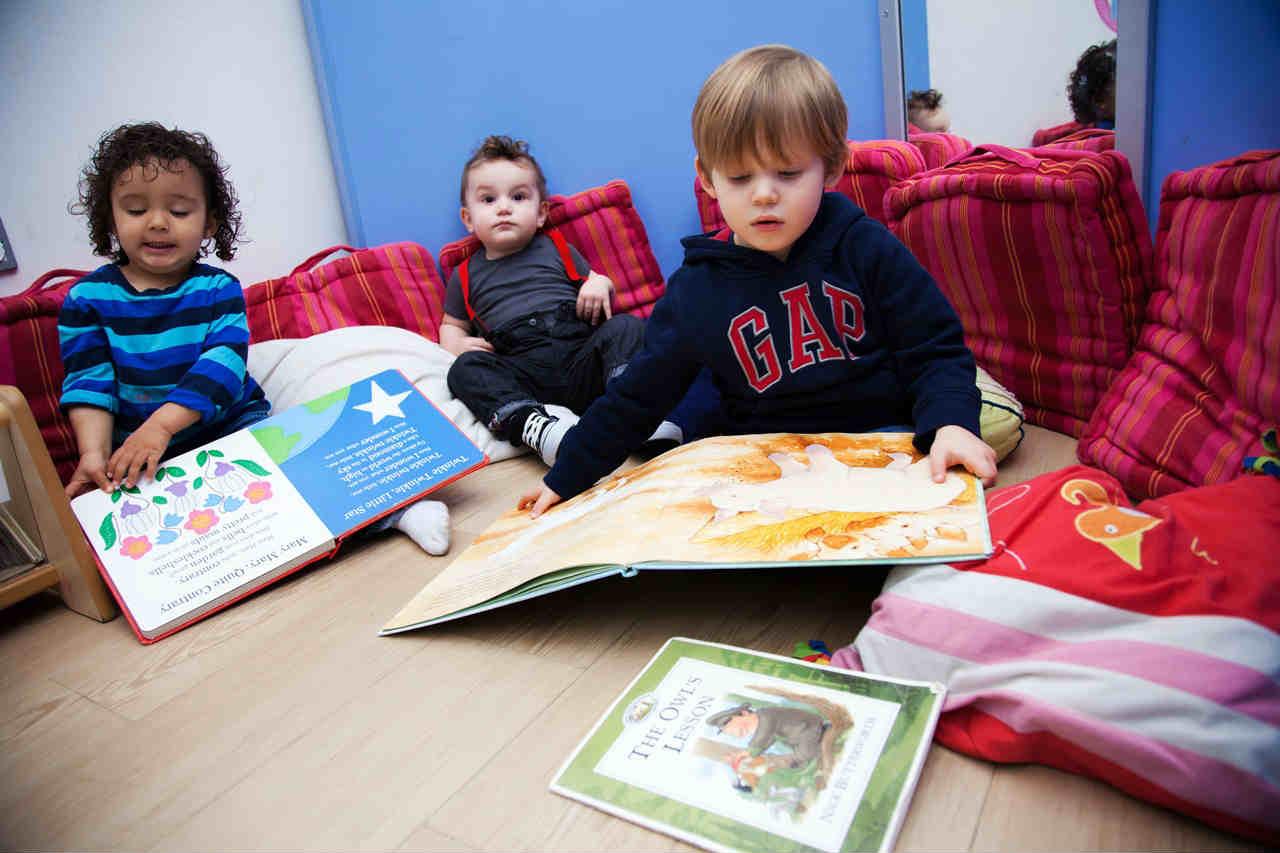 Kids reading at Third Door