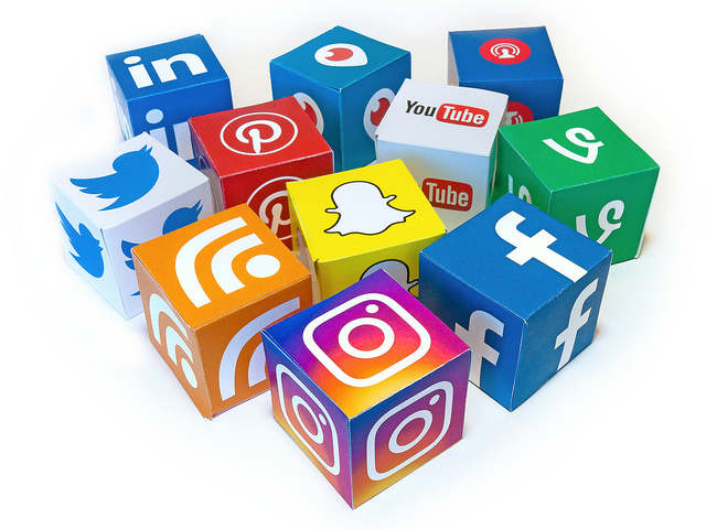 a range of social media