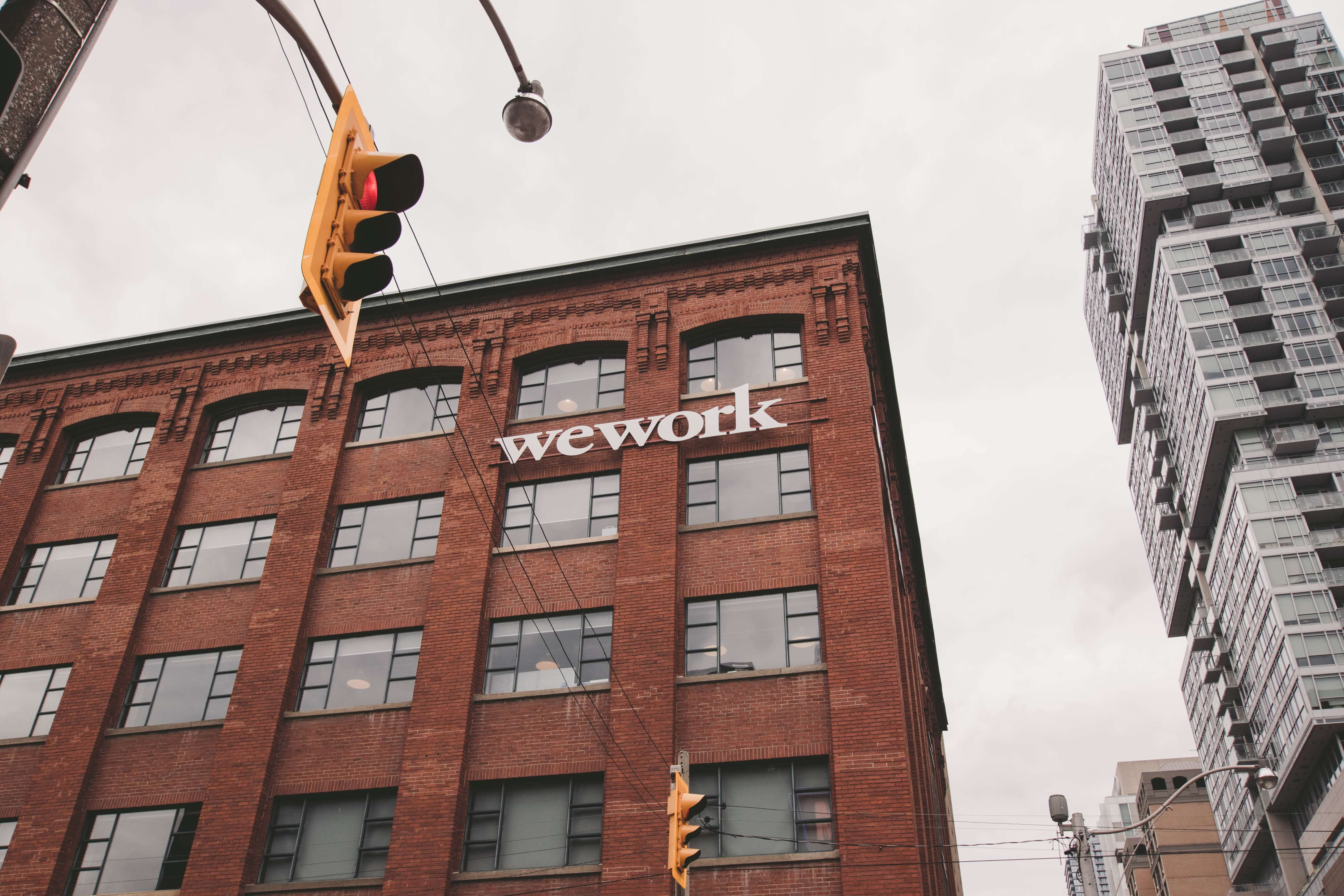 wework building with logo