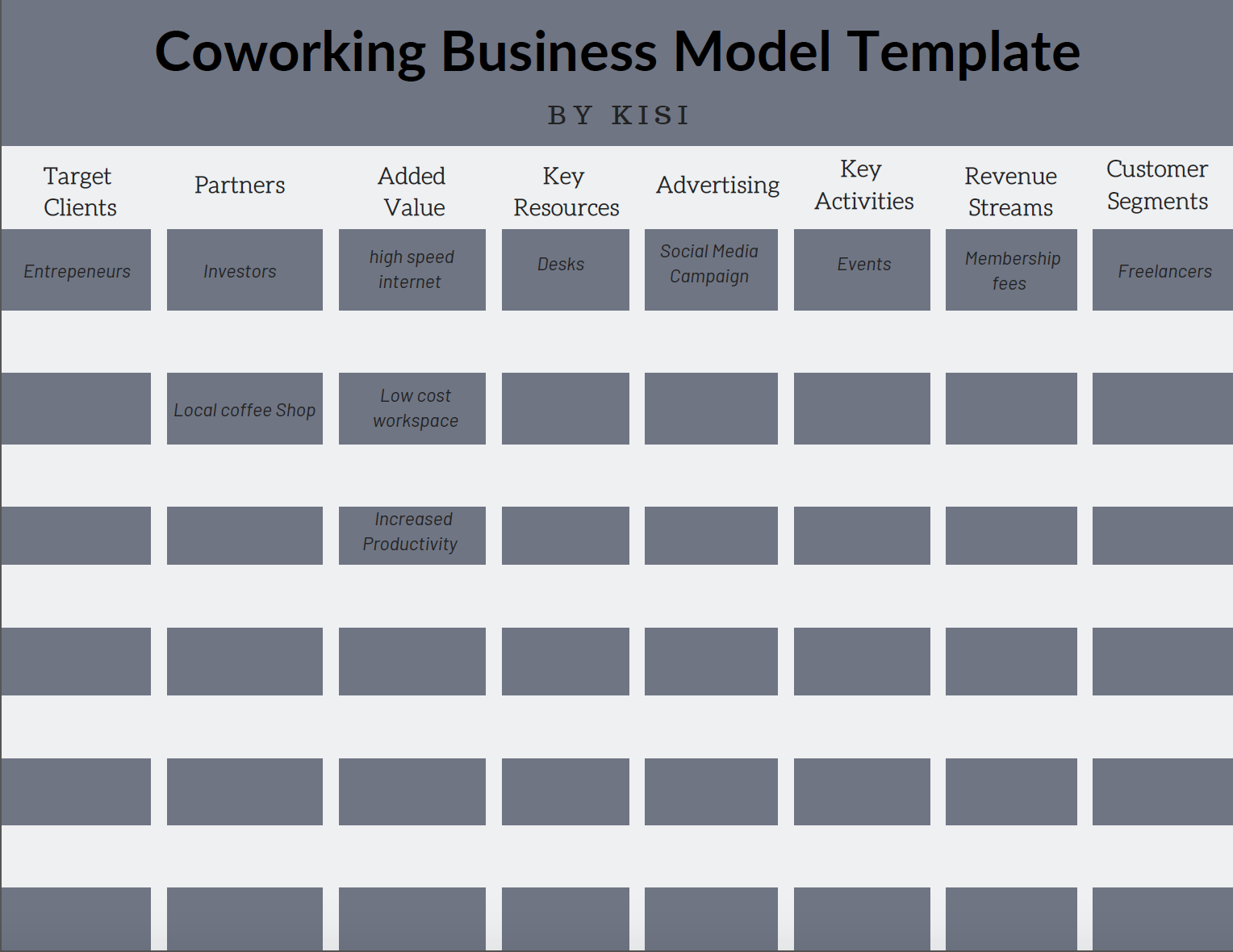 Coworking Space Business Plan Template + PDF Download
