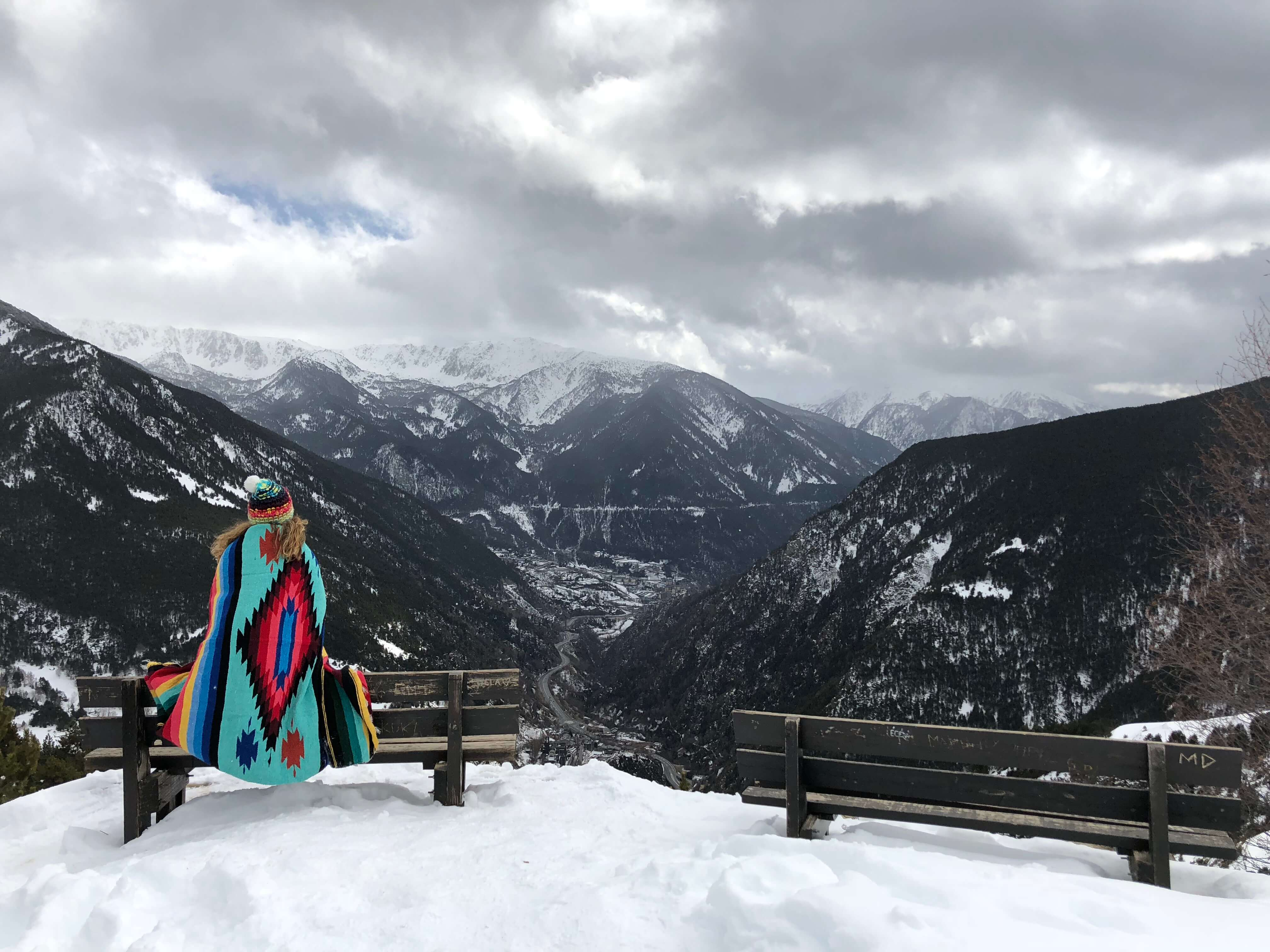 Scott's Cheap Flights member Drew C. in snow-covered mountains