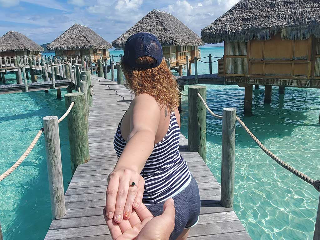 Scott's Cheap Flights member Bridget D. in Bora Bora