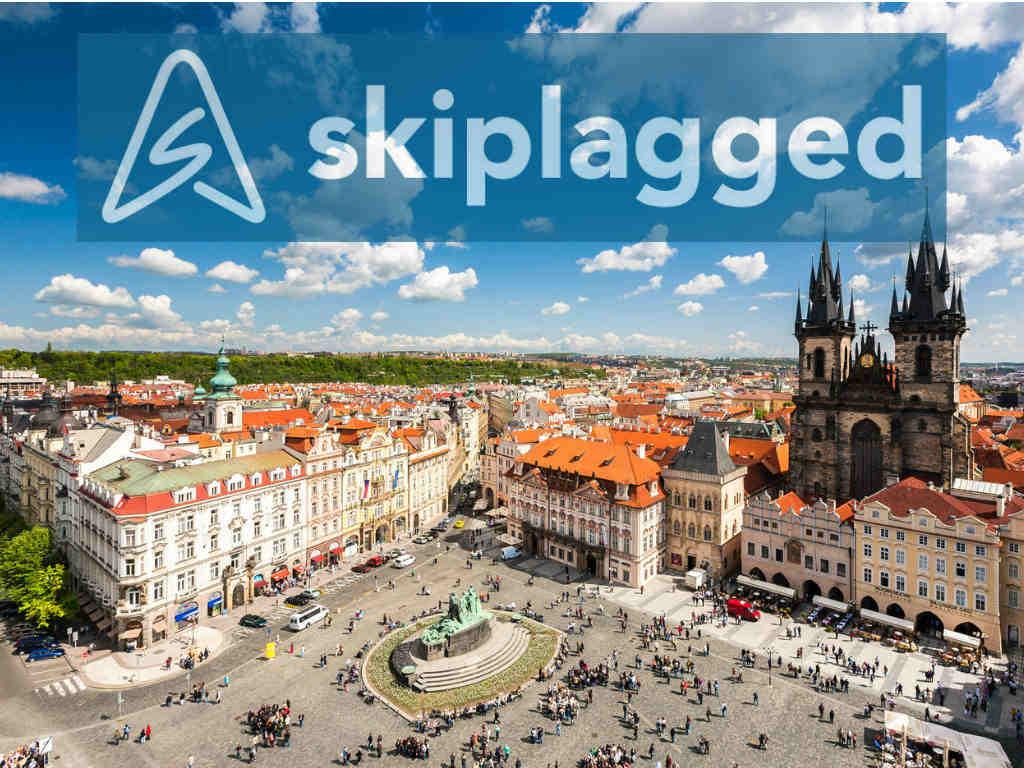 Prague with Skiplagged logo