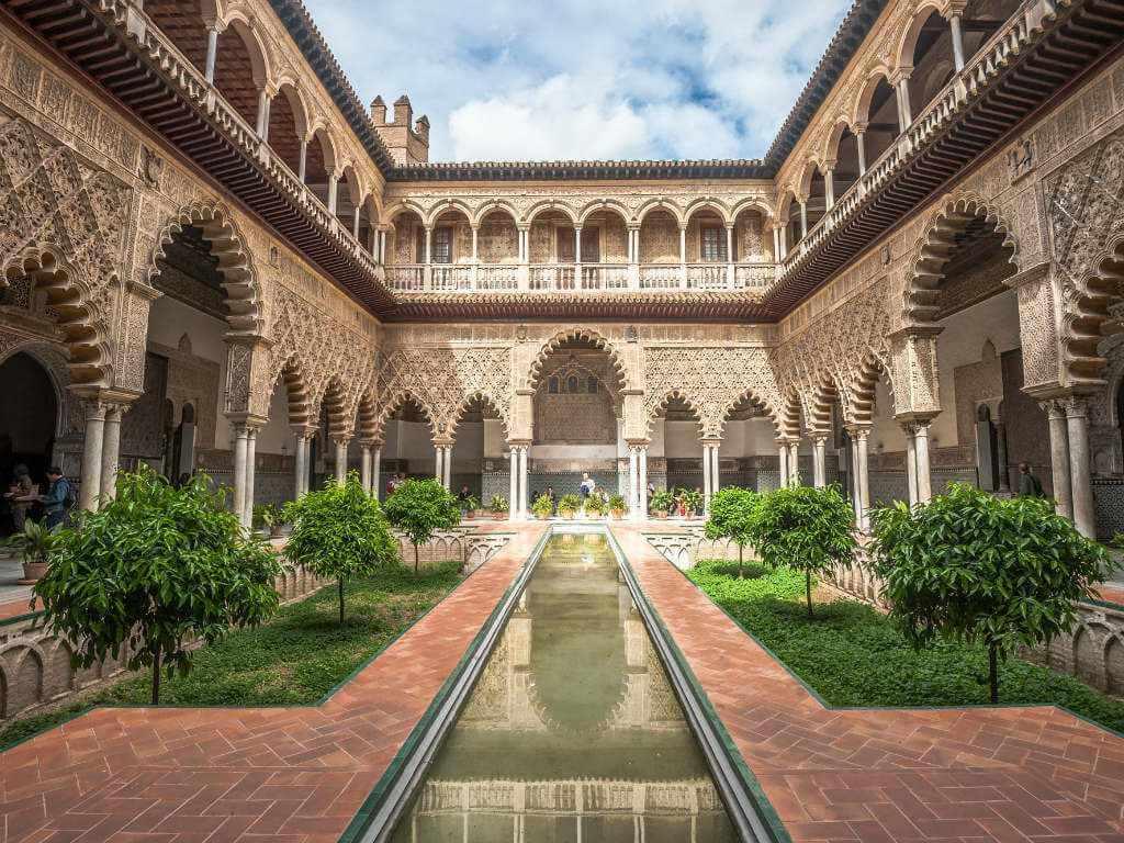 Alcázar in Seville Spain