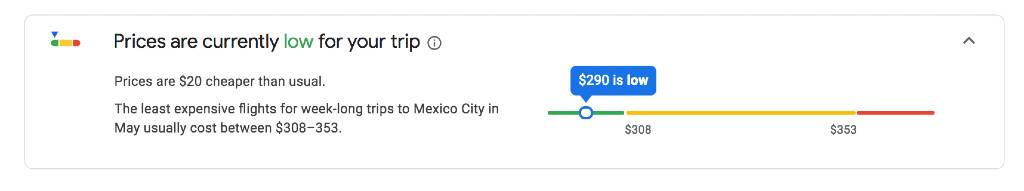 how to tell if your google flight is a good deal
