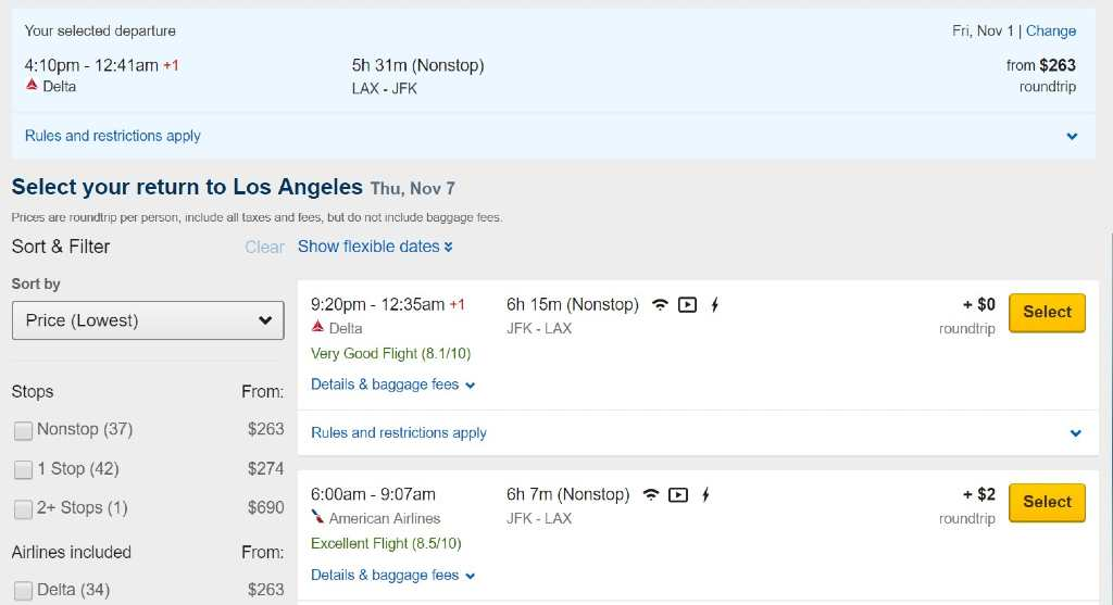 creating an itinerary on Expedia