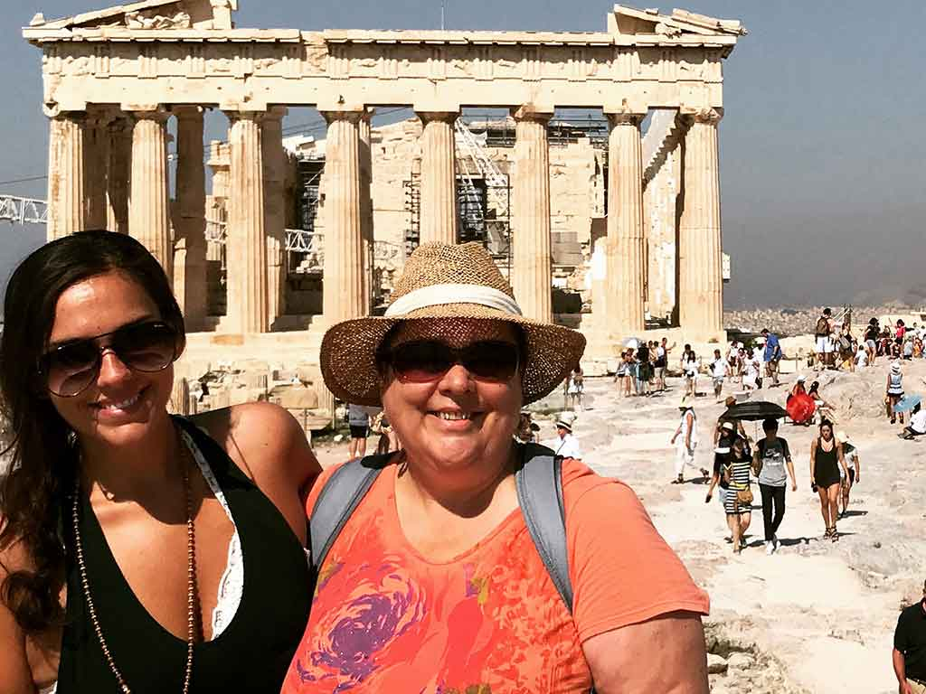 Scott's Cheap Flights member Victoria Murray in Greece