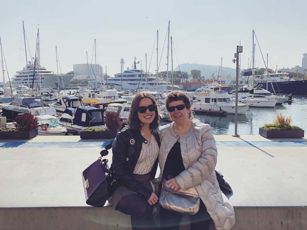 Member Alice M. and her mom in Barcelona