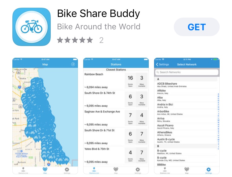 Aplicativo Bike Share Buddy
