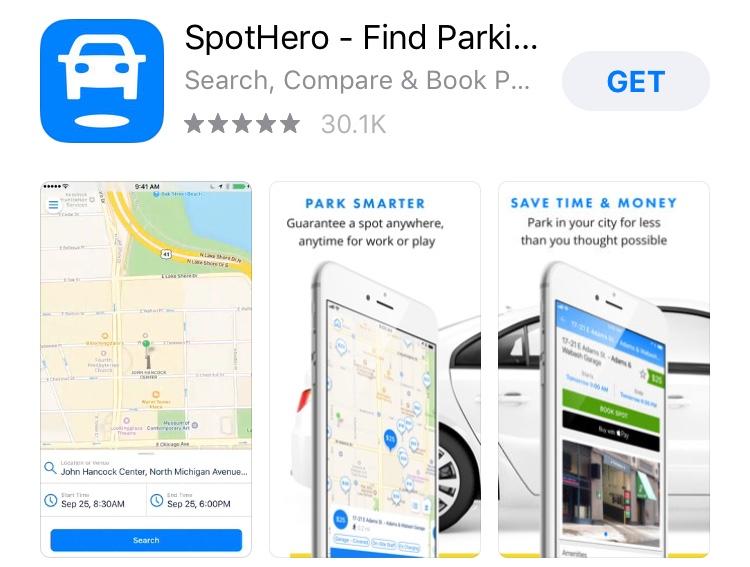 Spothero app