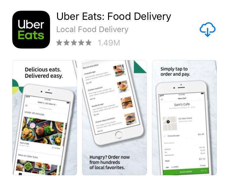 Uber Eats app
