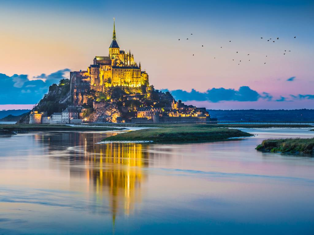 Mont St. Michel in France.