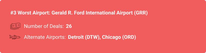 statistiques sur l'aéroport GRR