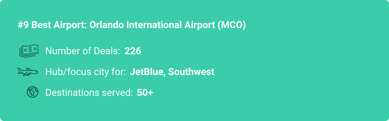stats about MCO airport