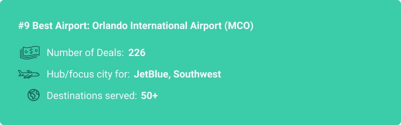 statistiques sur l'aéroport MCO