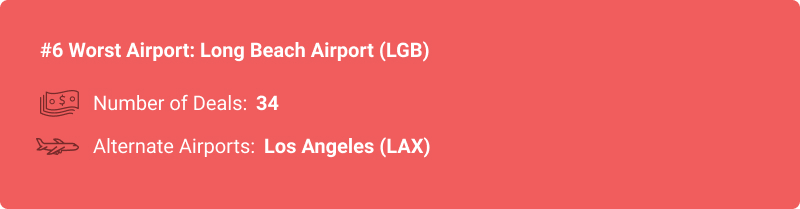 stats about LGB airport