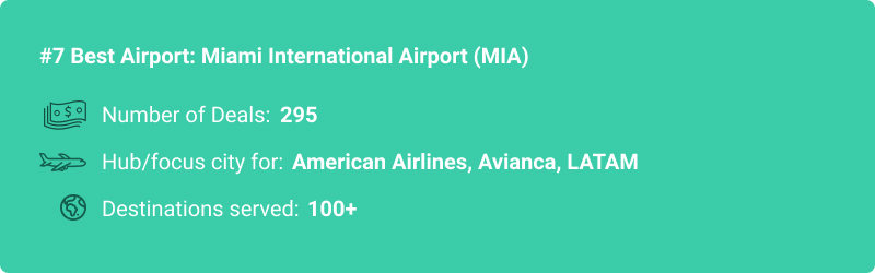 stats about MIA airport
